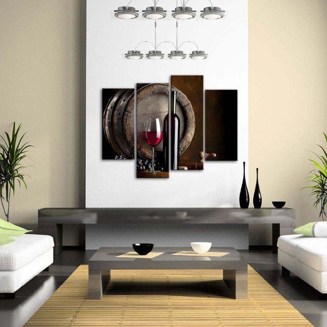 Keuken Muren Schilderen.Us 23 24 17 Off Wijn En Fruit Met Glas Vat Muur Schilderen Voor Keuken Foto Canvas Home Moderne Decoratie Voor Kerst Gift In Wijn En Fruit Met Glas
