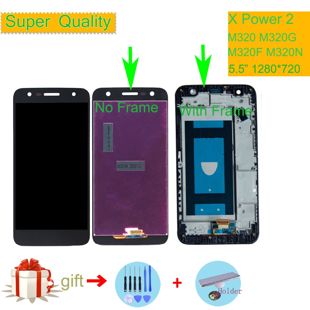 Original For LG X Power 2 M320 M320G M320F M320N LCD Display Touch Screen Digitizer Assembly with Bezel Frame X Charge M320 LCD in Mobile Phone LCD Screens from Cellphones Telecommunications