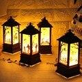 Тыквы на Хэллоуин/рука призрака/замок светодиодные фонари искусственное пламя свет маленькая масляная лампа светодиодные товары для вечер...