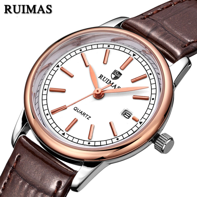 RUIMAS Fashion Women Leather Quartz Watch Top Brand Luxury Watches Ladies Clock Relogio Feminino Montre Femme Lover Wristwatches ruimas leather women watches fashion luxury ladies quartz watch clock relogio feminino montre femme lover watch for girl
