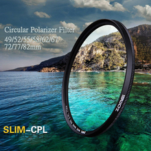 Ultra Slim CPL Filter 49/52/55/58/62/67/72/77mm Circular Polarizing Filter Photography Lens Kit for Sony Nikon Canon DSLR Camer zomei 49 52 55 58 62 67 72 77 82 86mm slim cpl circular polarizer filter for nikon canon olympus sony pentax camera lens filter