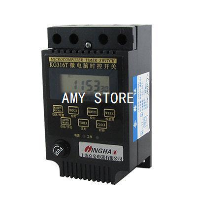 Power Supply Control Microcomputer Timer Switch Black AC 220V KG316T