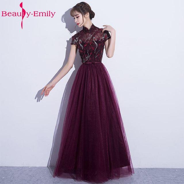 Schönheit Emily Elegante Lila Sexy Blume A Line Lang Plus Size ...