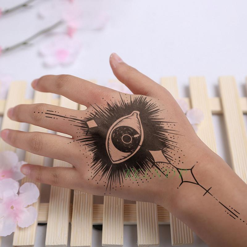 Waterproof Temporary Tattoo Sticker Eye Fake Tatto Flash Tatoo Hand Foot Shoulder Back Neck Tatouage For Girl Men Women Femme Temporary Tattoos Aliexpress
