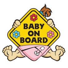 1pcs Baby on Board Warning Car Sticker Body Racing Side Door Long Stripe Stickers Auto Vinyl Decal