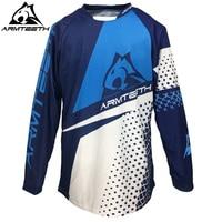 2017 Armteeth Motocross Jerseys Long Sleeved Motorcycle Outdoor Speed MX DH Motocross Racing T Shirts MTB