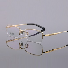 width-144 new ultra light titanium eyeglass frames men IP electroplated spectacle optical reading glasses holder male oculos