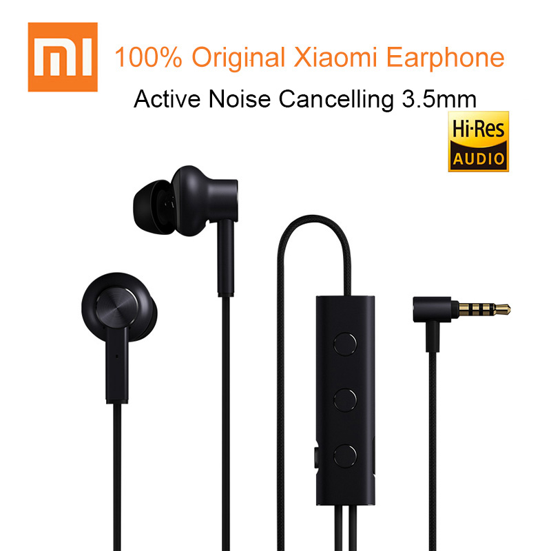 100 original xiaomi ANC wired 3 5mm in ear earphone active noise cancelling with mic for