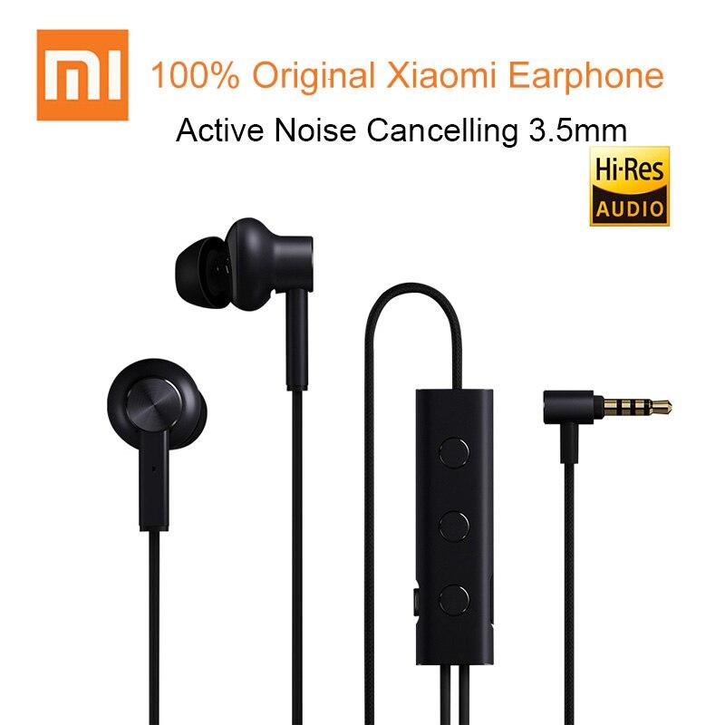 100% original xiaomi ANC filaire 3.5mm écouteurs intra auriculaires suppression de bruit active avec micro pour Samsung Huawei pour téléphone Android-in Écouteurs et casques from Electronique    1