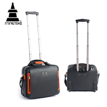 PU Trolley Travel Bag 16inch Business Rolling Luggage Bag On Wheels Hand Luggage Suitcase High Quality Tote Shoulder Duffle Bags