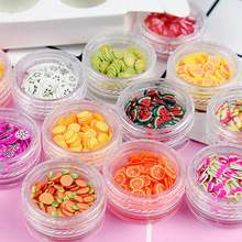 Get more info on the 12 Type/Set Fruit Slices Filler for Nail Art 3D Fruit Flowers Tiny Fimo Slices Polymer Clay DIY Make Up Beauty Nail Sticker,JJ87