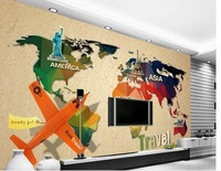3d Customized Wallpaper 3d Wallpaper World Map Sofa Background Wall Murals Bathroom 3d Wallpaper Living Style