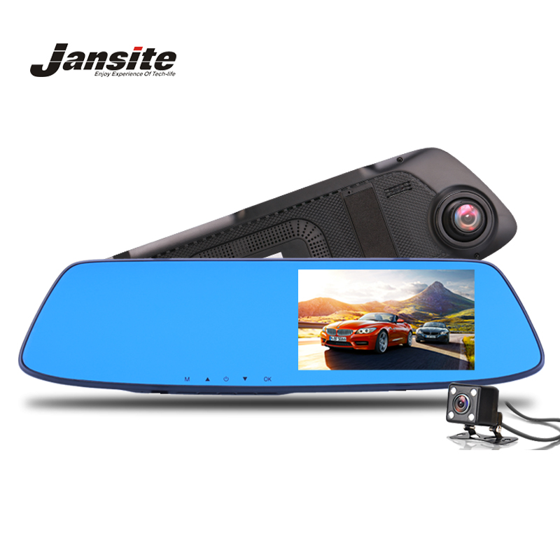 Car Camera Rearview Mirror Car DVR Double Lens Dash Cam Recorder Video Registrator Camcorder 1080p HD Night Vision Reverse image