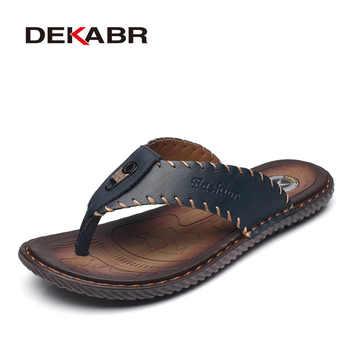 DEKABR New Arrival Summer Men Flip Flops High Quality Beach Sandals Non-slip Male Slippers Zapatos Hombre Casual Shoes Men