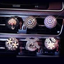 Diamond Bling Car Air Freshener Flower Vent Clip Auto Interior Decor Ca