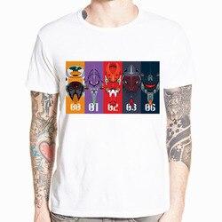 Neon Genesis Evangelion T shirt atak anioł EVA 01 02 Anime koszulka z krótkim rękawem O-Neck Tshirt dla mężczyzn HCP4486 5