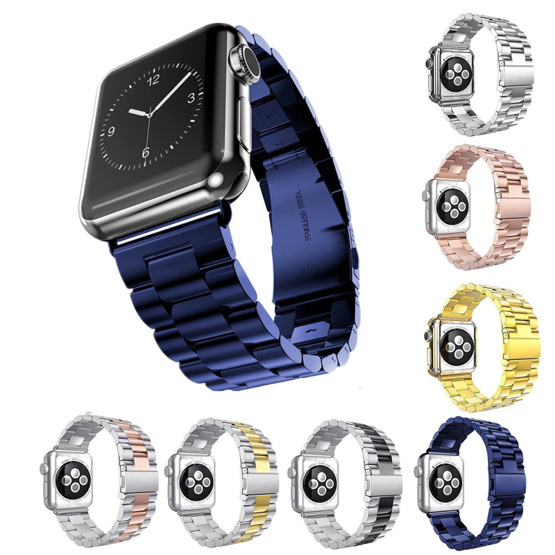 ASHEI 42mm 38mm Bracelet Watchbands for Apple Watch Series 3 Band Stainless Steel Metal Business Wrist Strap for iWatch 3/2/1 ashei watch wrist bracelet strap for apple watch band series 3 leather 42mm 38mm retro vintage watchbands for iwatch series 1 2
