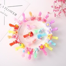20Pcs/lot Hot Candy Color Bow Hairpin Solid/ Dot/ Flower Print Ribbon BB Hair Clips for Baby Girls Kids Accessories