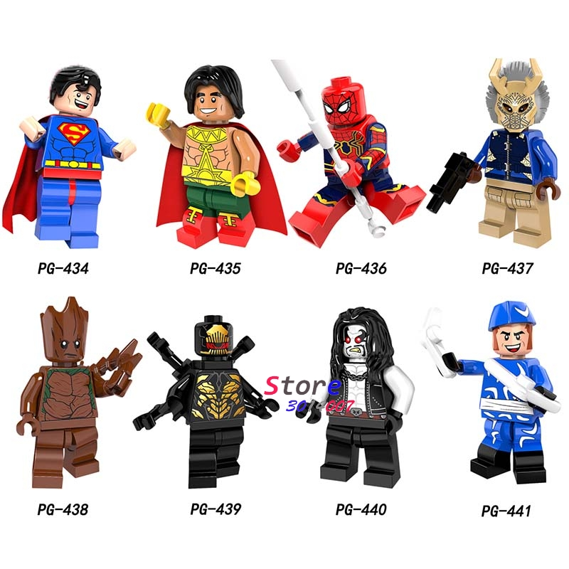 Intelligent 50pcs Marvel Avengers Infinity War Erik Killmonger Superman El Dorado Lobo Spiderman Boomer Ang Building Block For Children Toys Blocks