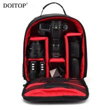 DOITOP Waterproof Backpack For Canon Outdoor Video SLR Camera Lenses Padded Travel Shoulder Bag Shockproof Small Storage Bags B3