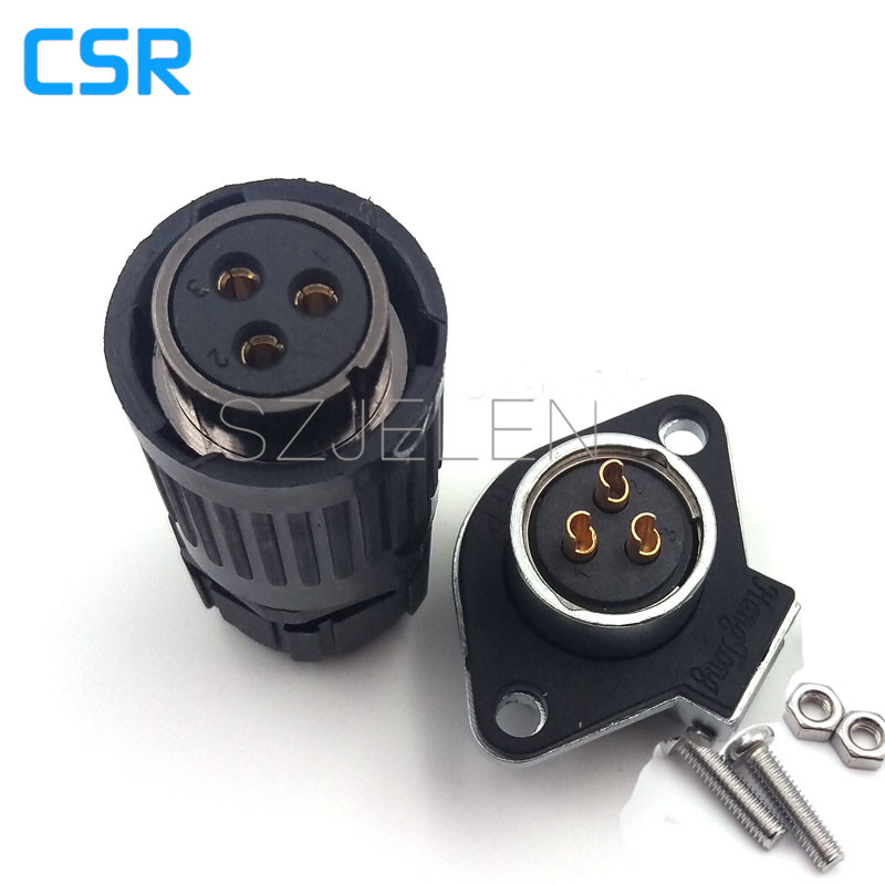 HP20 series 3pin waterproof and dustproof connecto plug/female socket connector, LED cable Board to Wire Connectors m12 aviation plug 8pins stragiht female or male plugs sensor connector socket connectors