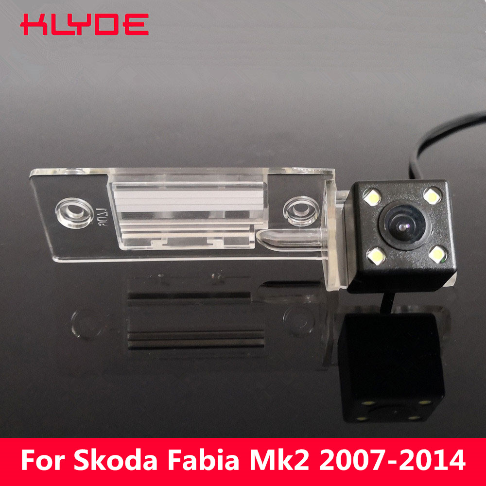 KLYDE Car HD CCD Rear View Reverse Parking Night Vision Camera For Skoda Fabia MK1 MK2 2007 2008 2009 2010 2011 2012 2013 2014
