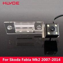 Klyde автомобиля HD CCD заднего вида Обратный Парковка Ночное видение Камера для Skoda Fabia MK2 (5j) 2007 2008 2009 2010 2011 2012 2013 2014