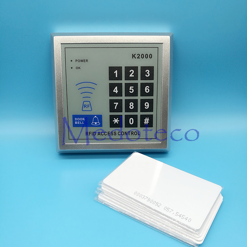 Free shipping+10 white Card +125khz RFID Proximity Card Access Control System RFID/EM Keypad Card Access Control Door Opener 2014small little girl homemade parent child clothes for mother child bugs bunny cartoon one piece dress baby sweatshirt