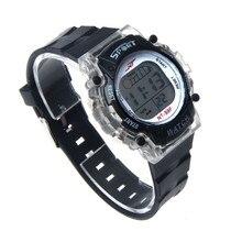 Женщины мужские Часы Красочный СВЕТОДИОДНЫЕ Электронные Clcok Спорт наручные часы оптом