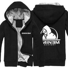 Rap God EMINEM Not Afraid Recovery Thick Fleece Men Boys Outwear Cotton Hoodie Coat Jacket Parkas Warm Menwear Gift