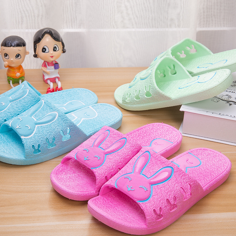 DreamShining Summer Non-Slip Bathroom Slippers Men And Women Rabbit Indoor Home Bath Sandals Slippers Seasons  Home Slippers men s and women s bathroom slippers summer bathhouse slippers eva hotel slippery wear resisting couples cross belt slipper
