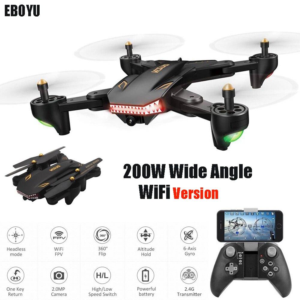купить EBOYU XS809S -HD-G 720P Wide Angle HD Camera Wifi FPV Foldable Drone One Key Return Altitude Hold G-sensor RC Quadcopter Drone по цене 4993.42 рублей