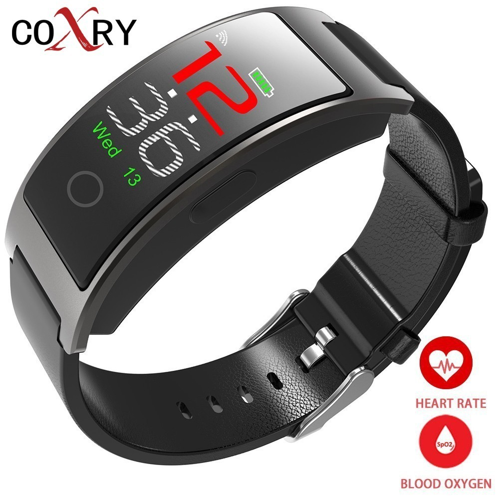COXRY Heart Rate Smart Watch Men Sport Digital Watch Women Stopwatch Waterproof Wrist Watch Blood Pressure Pedometer Smartwatch coxry fitness smart watch women digital watches blood pressure sports heart rate pedometer sleep led calorie counter wrist watch