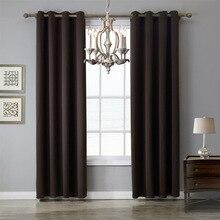 Marca XYZLS, cortinas de Chocolate oscuro de alta calidad, cortina opaca, cortinas de ventana, cortinas para dormitorio, sala de estar, decoración de café