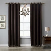 XYZLS Brand High Quality Dark Chocolate Curtains Shade Blackout Curtain Window Drape cotinas for Bedroom Living Room Cafe Decor