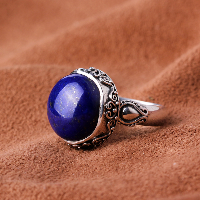 Silk Princess Silver 925 Silver Vintage Silver Lapis Ring natural crystal - midsummer dream the silver dream