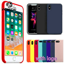 Luxury Color Silicone Case For iPhone 6 6S case Apple Cover Screen Protector