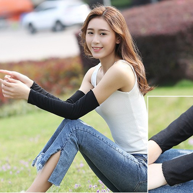 1pair Summer Sun UV Protection Arm Warm Sleeves Breathable Women Ultraviolet-proof Quick Dry Travel Outdoor Sport Hiking Using
