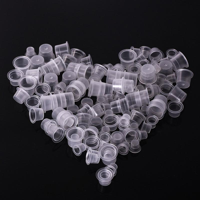 1000pcs Tattoo Ink Caps Disposable Ink Cups Permanent Eyelash Eyebrow Tattooing Pigment Container Kits Supplies Size S M L