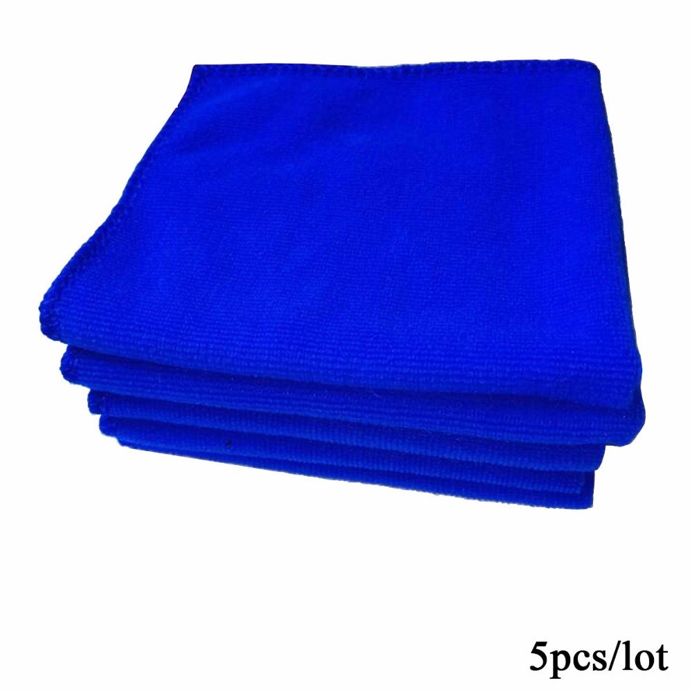 Sponges, Cloths & Brushes 5pcs/lot Soft Microfiber Super Absorbent Car Wash Cloth Car Auto Care Cleaning Washing Towels Household Clean Tools 30*30cm 5c06 Long Performance Life Car Wash & Maintenance