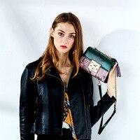 Snake Bag For Women Fashion Shoulder Bag Small Chain Messenger Crossbody Bag Serpentine genuine Leather Crossbody Panelled Bags