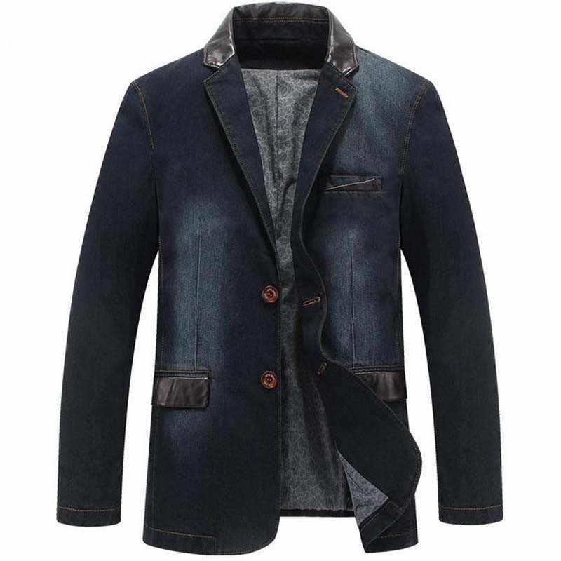 Aismz חדש קאובוי פנאי מעילי Mens אופנה מעילי ג 'ינס סתיו חליפת Loose בלייזר צמרות מעיל חיצוני מעיל Chaqueta זכר טרייל