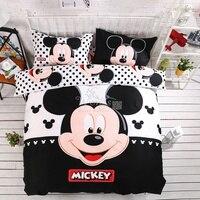 Ev tekstili 100% pamuk yetişkin çocuk Boys Disney mickey mouse 3d yatak seti Kraliçe kral yorgan Kapağı seti/yatak odası takımları