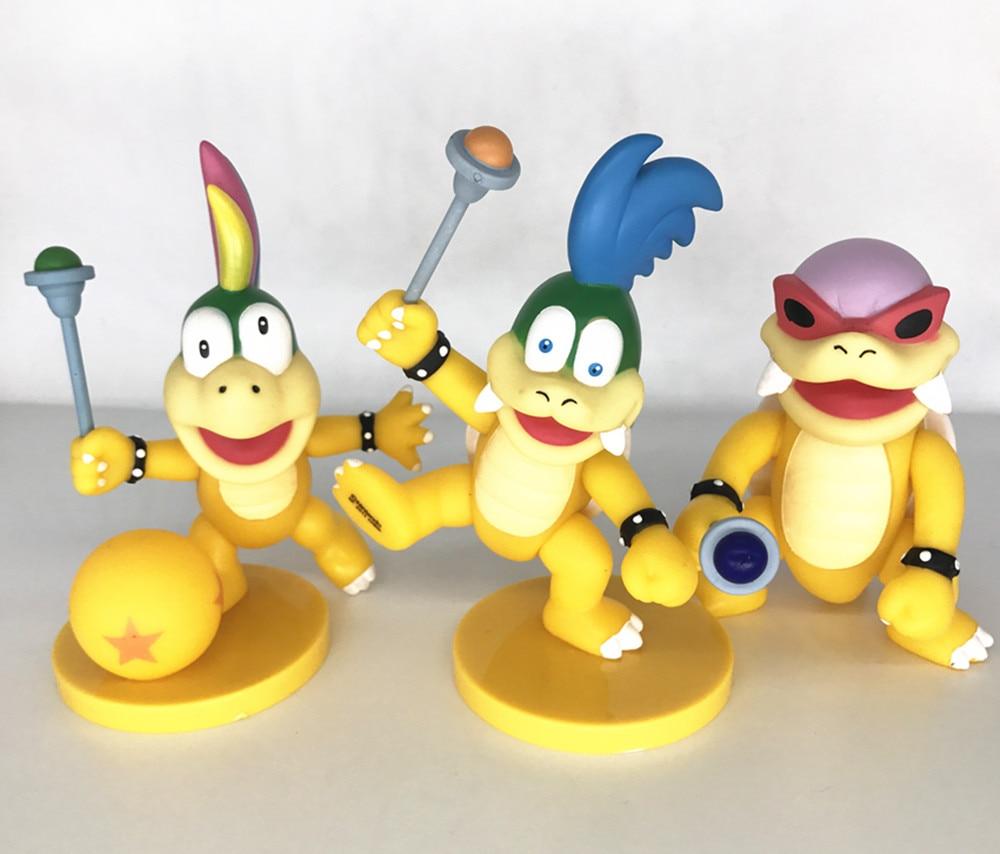 10cm-12cm Super Mario Bros 3pcs Koopa Larry Lemmy Roy Fəaliyyət - Oyuncaq fiqurlar