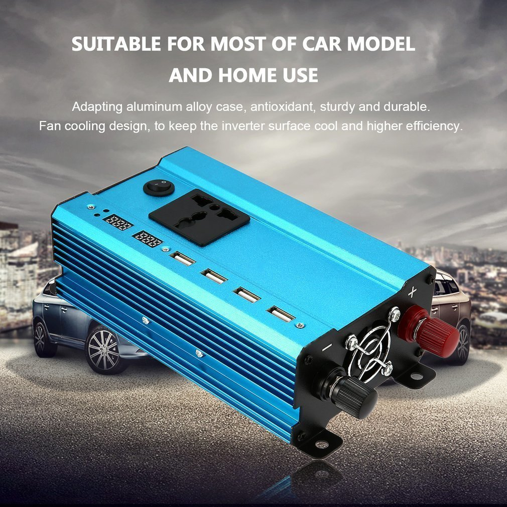 Professional 3000W Power Inverter DC to AC Home Fan Cooling Car Converter for Household Appliances Emergency Power Supply(China)