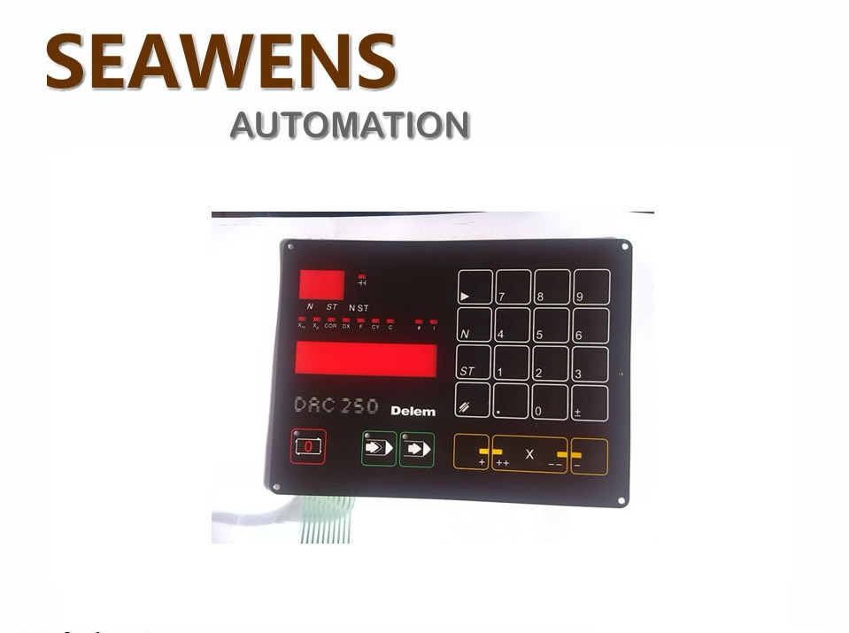 DAC 250 Membrane Keypad for Delem DAC250 Plate shearing machine, New in stock. a86l 0001 0288 1pc membrane keypad new fast ship in stock 6 button or 12 button