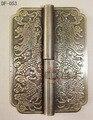 Chinês de bronze antigo de cobre dobradiça Diao comprimento 8 CM