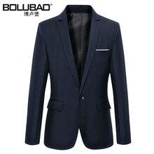Пиджак сплошной slim случайные костюмы одежды моды марка мужской мужские осень