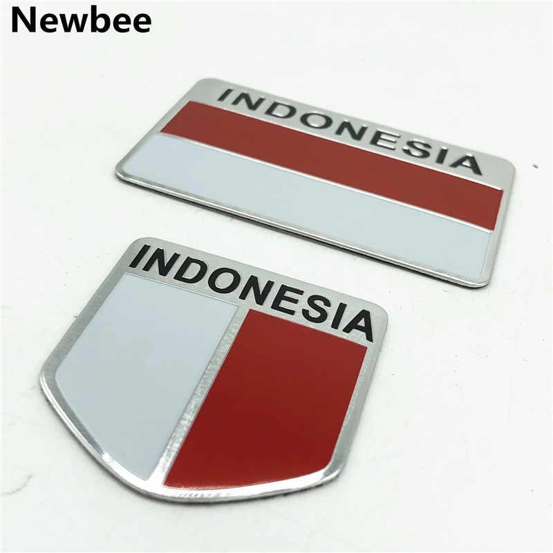インドネシア旗バッジエンブレムアルミステッカーオートバイデカール車スタイリングアクセサリー Avanza Calya ホンダ HR-V スズキ