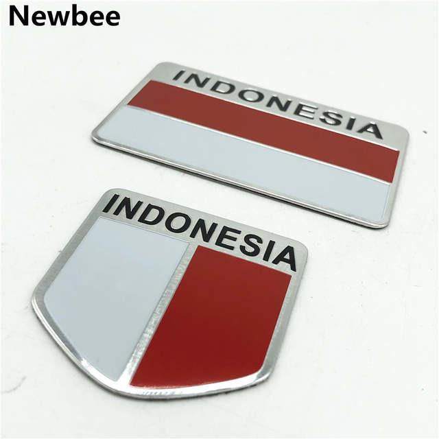 Flag And Emblem >> Indonesia Flag Badge Emblem Aluminium Stiker Motor Stiker Mobil Styling Aksesoris Untuk Toyota Avanza Calya Honda Hr V Suzuki
